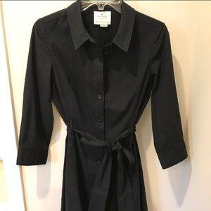 Kate spade black belted shirt dress small like new